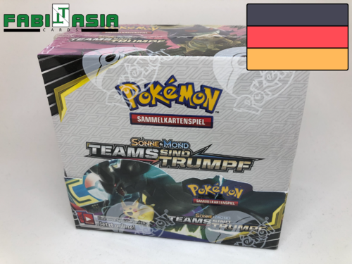 Pokémon SM09 Teams sind Trumpf Display Deutsch