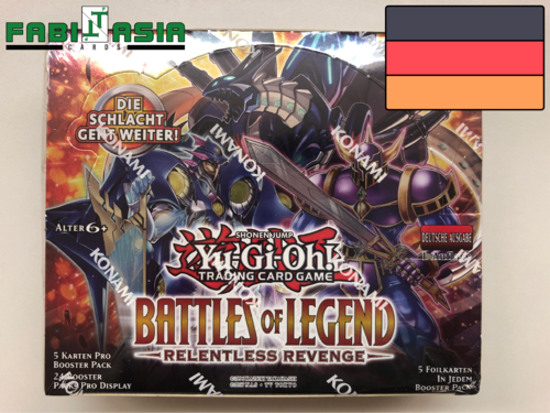 YuGiOh! Battles of Legend: Relentless Revenge Display Deutsch