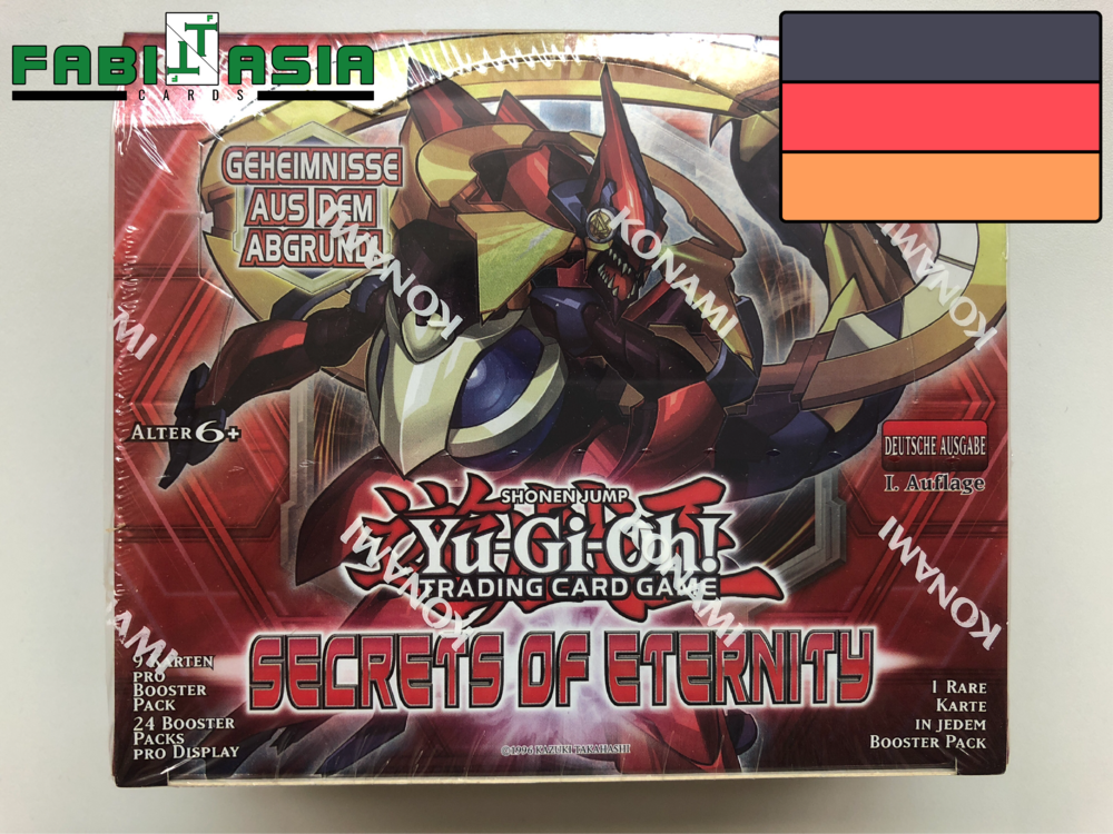Auflage Display 10 Super Rare Karten Yugioh Secrets of Eternity Deutsch 1