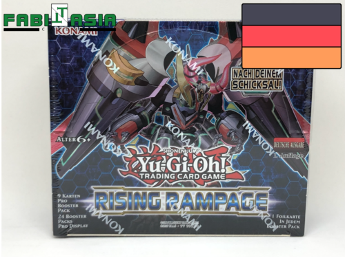 YuGiOh! Rising Rampage Display Deutsch