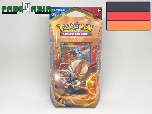 Pokémon SWSH01 Themedeck Cinderace German