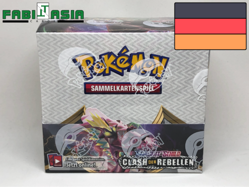 Pokémon SWSH02 Rebel Clash Display German