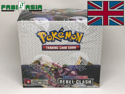 Pokémon SWSH02 Rebel Clash Display English