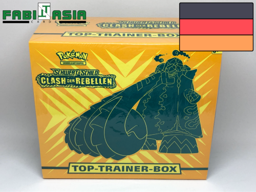 Pokémon SWSH02 Clash der Rebellen Trainerbox Deutsch