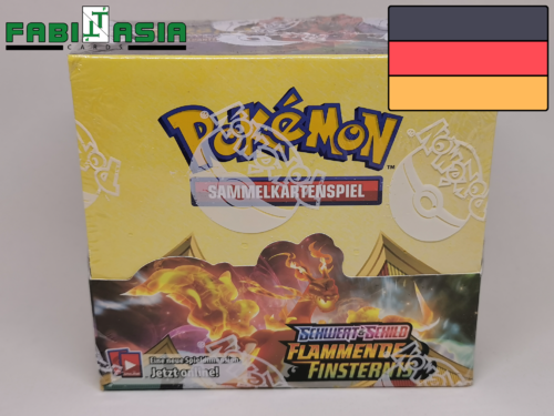 Pokémon SWSH03 Flammende Finsternis Display Deutsch