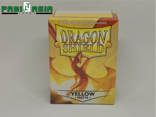 Dragon Shield Sleeves - Matte Yellow (100)