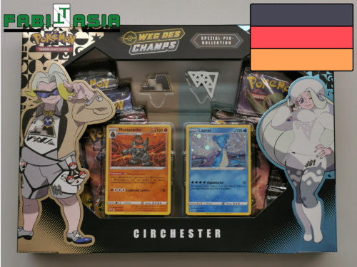 Pokémon SM Champion's Path Special Pin Collection Circhester German